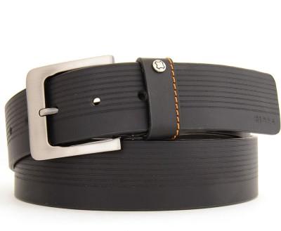 Hidea Men Casual Black Genuine Leather Belt