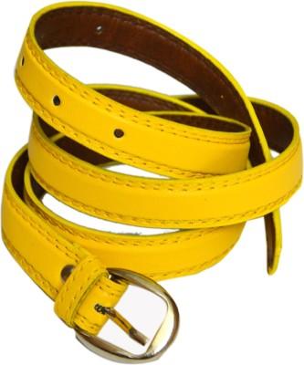 VICTORIA SECRET INDIA Girls, Women Yellow Artificial Leather Belt