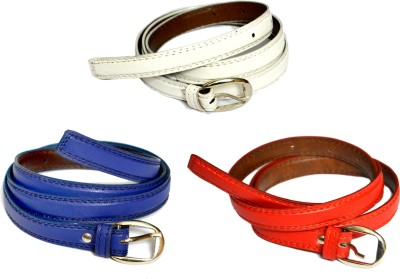 VICTORIA SECRET INDIA Girls, Women Blue, Red, White Artificial Leather Belt
