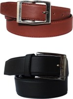 Klaska Men Casual Black, Brown Artificial Leather Belt