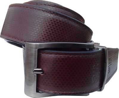 Wholesomdeal Men Casual Brown Synthetic Reversible Belt