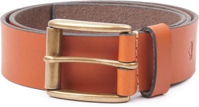 Wolux Men Tan Genuine Leather Belt