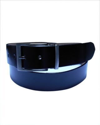 Navie Men Black Genuine Leather Belt