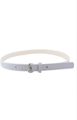 Indian Swan Girls, Women Party White Artificial Leather Belt
