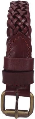 Revo Women Casual Brown Genuine Leather Belt
