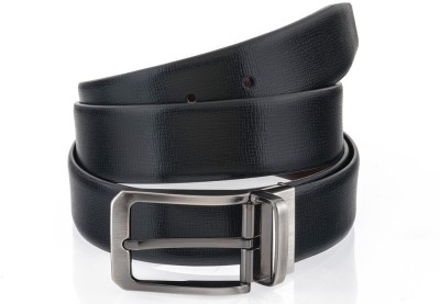 Rene Men Formal Black Genuine Leather Reversible Belt