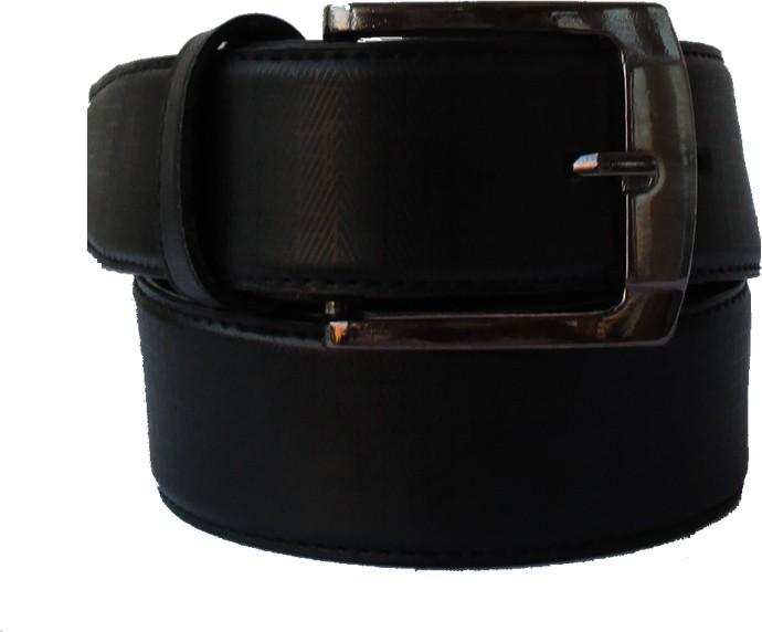 Klaska Men Casual Black Genuine Leather Belt(Black) best price on Flipkart @ Rs. 199