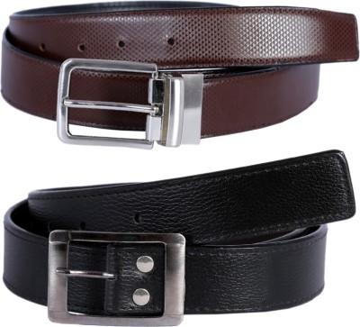 Hardys Men Multicolor Genuine Leather Reversible Belt
