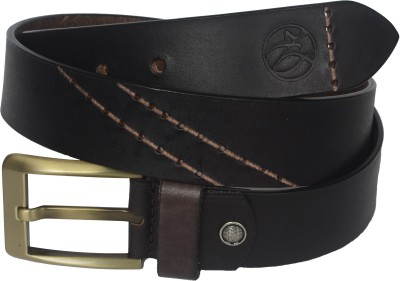 Czar Enterprises Boys, Men Casual, Evening Black Genuine Leather Belt