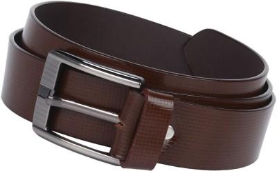 London Fashion Men Formal Brown Genuine Leather Belt