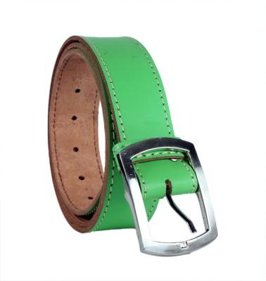 Revo Men Casual Green Genuine Leather Belt