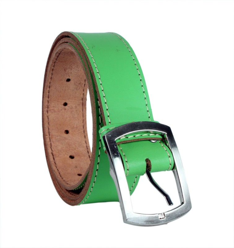 Revo Men Casual Green Genuine Leather Belt