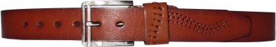 Quality Mart Men Casual Brown Artificial Leather Belt