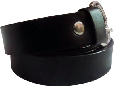 Rege Girls Casual Black Artificial Leather Belt
