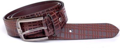 sankalp Men Formal Brown Genuine Leather Belt