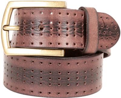 e-Adams Men Casual Brown Genuine Leather Belt