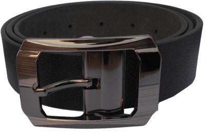 DVC Men Formal Black Genuine Leather Belt