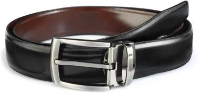Rico Sordi Men Casual Black Genuine Leather Reversible Belt