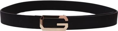 Stylehoops Boys, Men Black Artificial Leather Belt