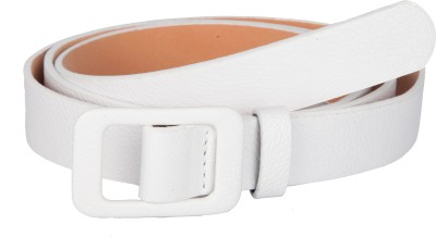TrendBAE Women Party White Artificial Leather Belt