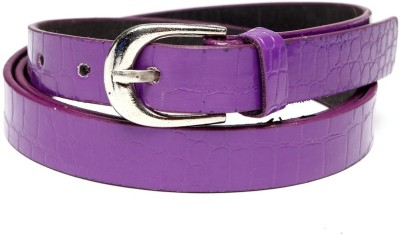 TOBO Women Casual Purple Synthetic Belt