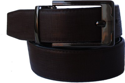 Klaska Men Casual Brown Genuine Leather Belt