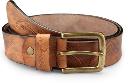 Randier Men Casual Brown Genuine Leather Belt