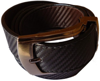 MMS Men Formal Black Fabric Belt
