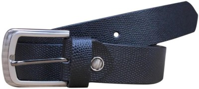 Bacchus Men Formal Black Genuine Leather Belt
