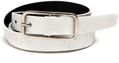 TOBO Women Casual Silver Synthetic Belt