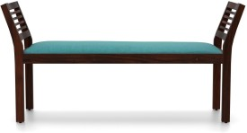 Urban Ladder Latt Upholstered Solid Wood 2 Seater(Finish Color - Mahogany)