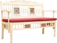 ExclusiveLane Teak Wood Solid Wood 2 Seater(Finish Color - Creamish White)