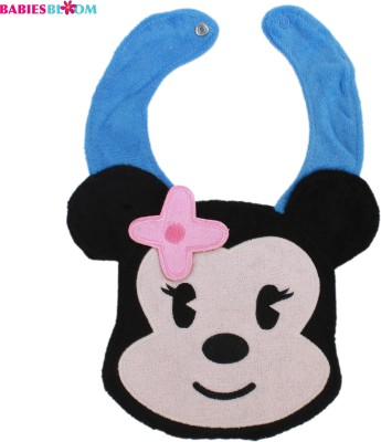 Babies Bloom Mickey Mouse Cotton Baby Bib And Waterproof Burp Cloth(Multi-Color)