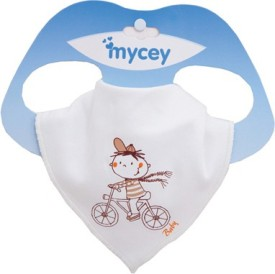 Mycey Bandana Bibs - bicycle(White)