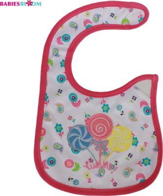 Babies Bloom Brown Pink Merry Go Round Waterproof Bib(Multi-Color)