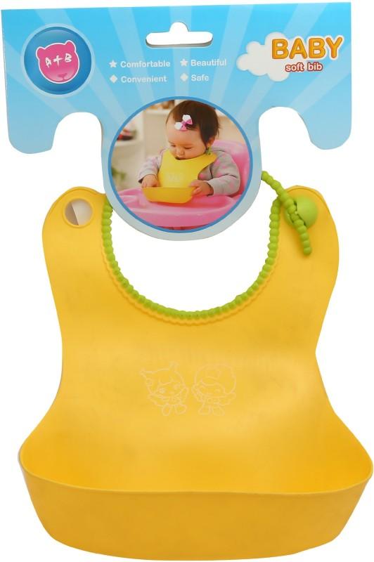 Wishkey Yellow Baby Bib With Crumb Catcher(Yellow)