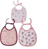 Kaboos Pink Color Feeding Bibs Combo (Ba...