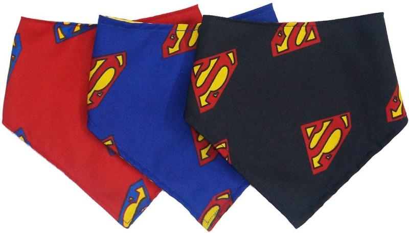 Wobbly Walk Set of 3 Superman Bandana Bib(Multicolor)