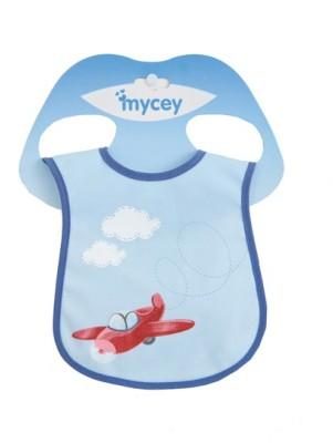 Mycey Stainproof Bibs - plane(sky blue)