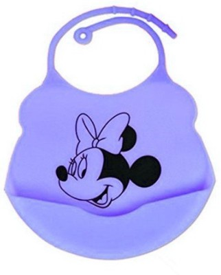 Blossoms Cute Baby Bibs - Silicone with Crumb Catcher - Minnie Mouse (2 set)