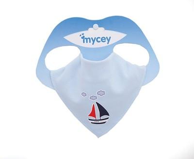 Mycey Bandana Bibs - boat(White)