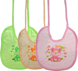 DCS Multi Color Bear Design Baby Bibs for Kids(6-12months)(Pack of 3)(Multicolor)