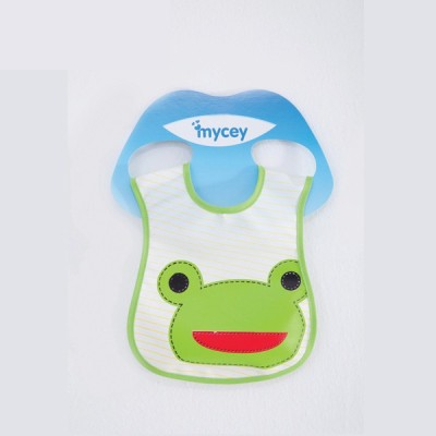 Mycey Stainproof Bibs - frog(Green)