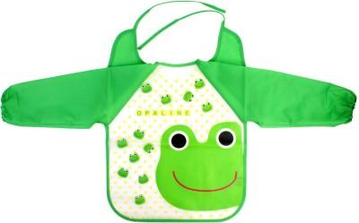 Pigloo Kids Long Sleeved Waterproof Smock Apron Bib for Painting, Art & Craft, Eating, Age: 3-5 Years (Pattern: Frog)
