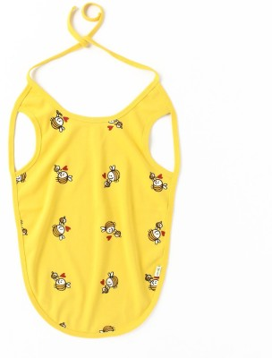 Little Green Kid Organic Cotton Yellow Mama Bee Bib - Full Length