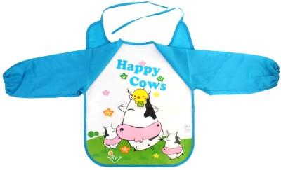 Pigloo Kids Long Sleeved Waterproof Smock Apron Bib for Painting, Art & Craft, Eating, Age: 3-5 Years (Pattern:Cows)