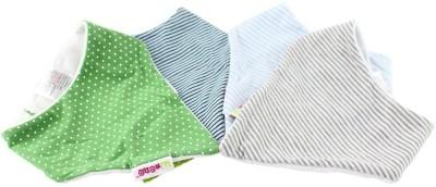 Minene Bandana Bibs(Pack OF 4)(Green)