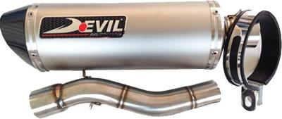 DEVIL Honda CBR 250 Slip-on Exhaust System(Titanium, Carbon Fiber)