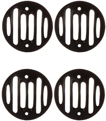 AutoSun Indicator Cover for Royal Enfield Bullet Bike Headlight Grill(Black)