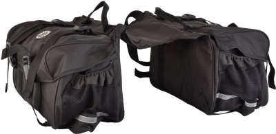 KASCN DUAL SADDLE BAGS IN BLACK Bike Luggage Box